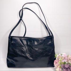 Monsac Black Italian Leather Purse Bag